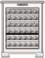 Вместимость шкафа Indel B BUILT-IN 36