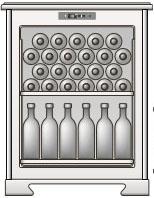Максимальная вместимость 46 бутылок