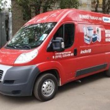 Брендирование новой машины для доставки товаров